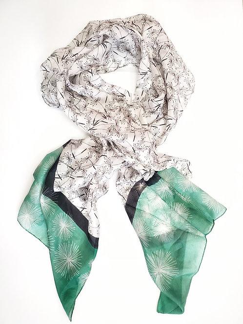 Dandelion silk scarf by Asian Eye