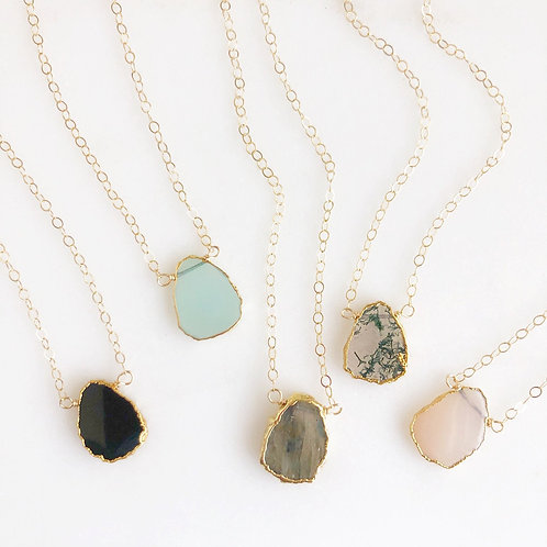 Delicate Stone Layering Necklace