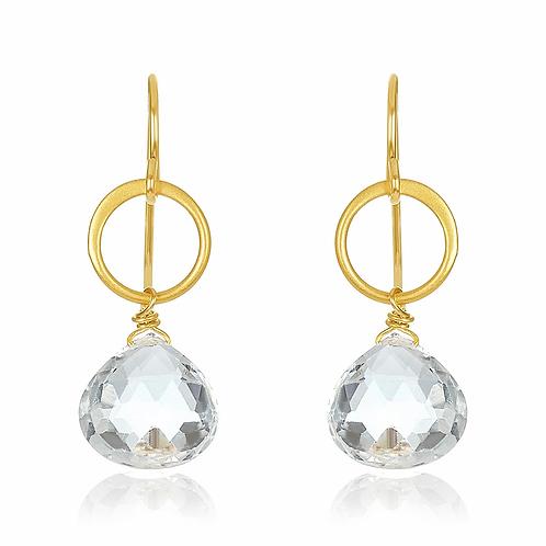 Mabel Chong Blue moon earrings