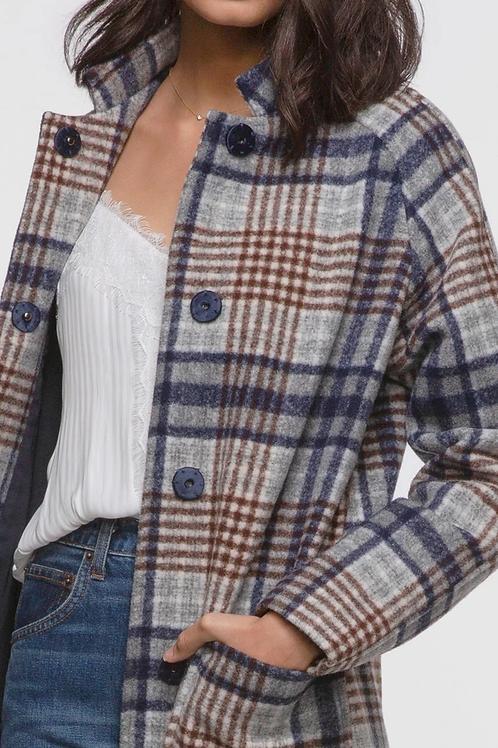 Austar plaid coat by Greylin