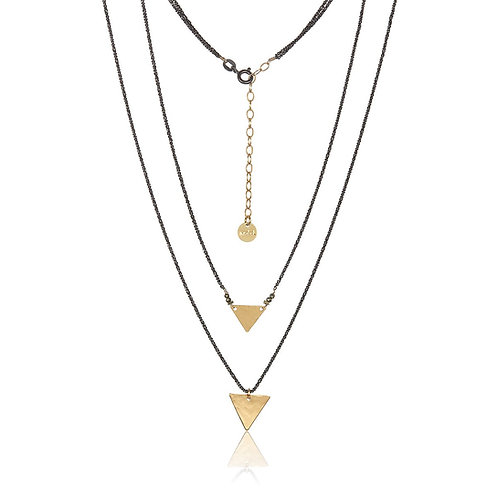 Sacred triangle necklace by Mabel Chong