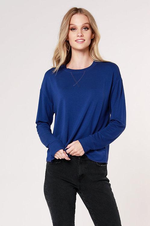 Drop Sleeve Sweatshirt by Bobi Black