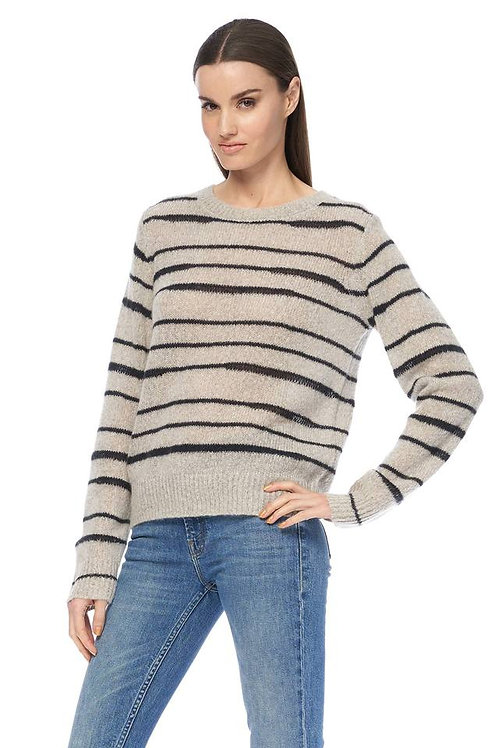 Reighn Striped Sweater by 360 Cashmere