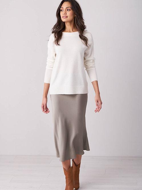 Repeat Silk Bias Skirt