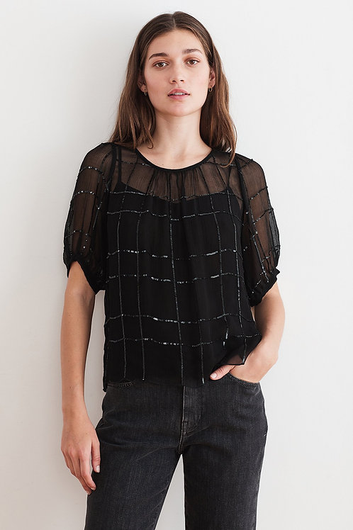 Cecilia Sequined Blouse by Velvet