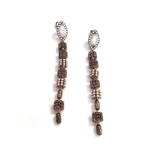 Swarovski Crystal + Topaz Earrings by Theia