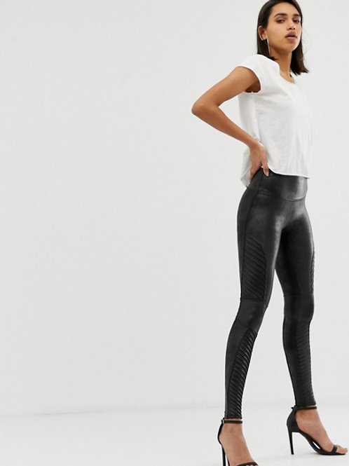 Faux Leather Moto Leggins