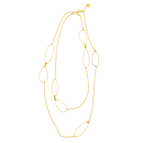 Golden links necklace by Mabel Chong