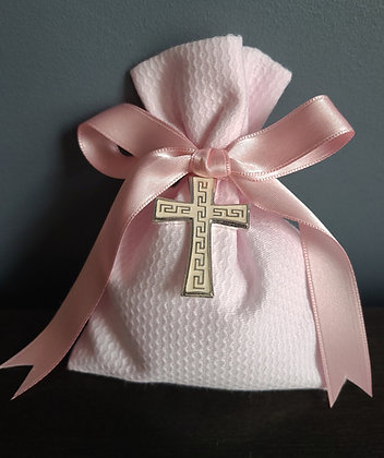 Textured pink pouch for baby girl