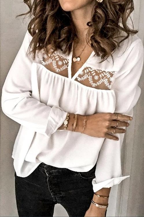 Lace loose fit blouse