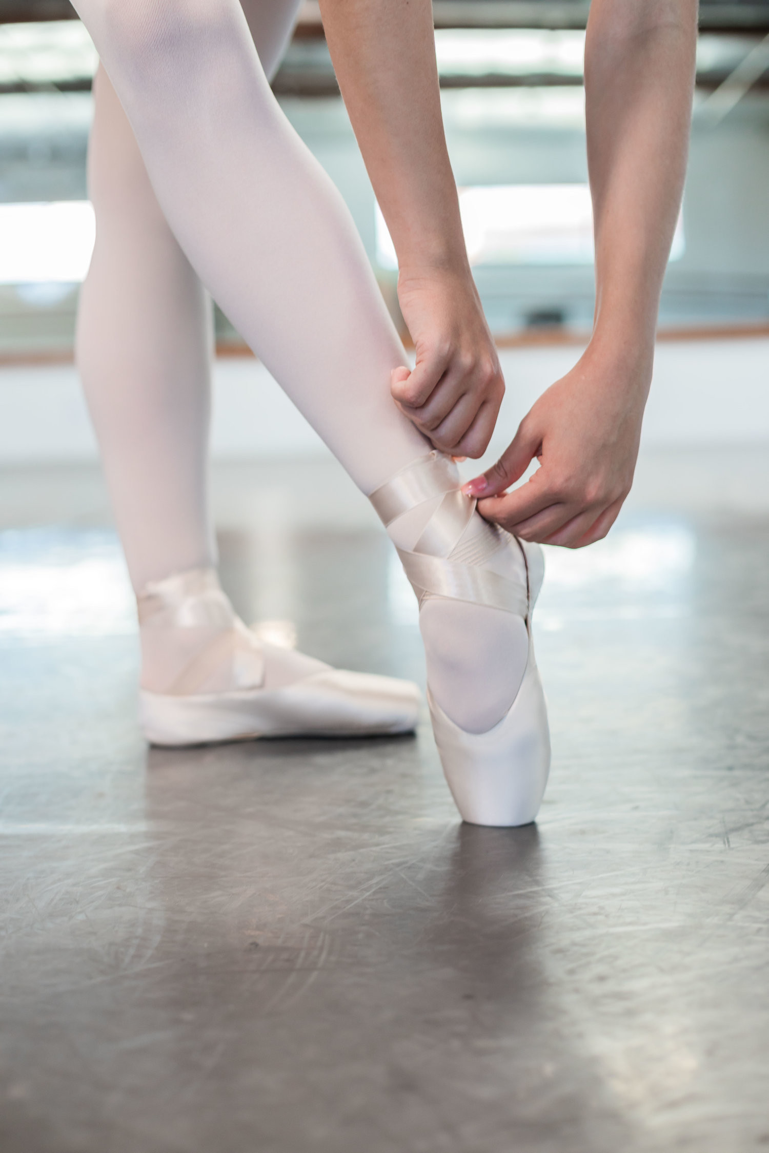 First time pointe shoe fitting