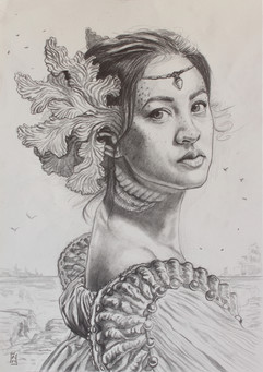 Lady of the Sea (Preliminary drawing)