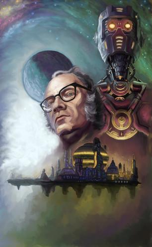 Isaac Asimov illustration