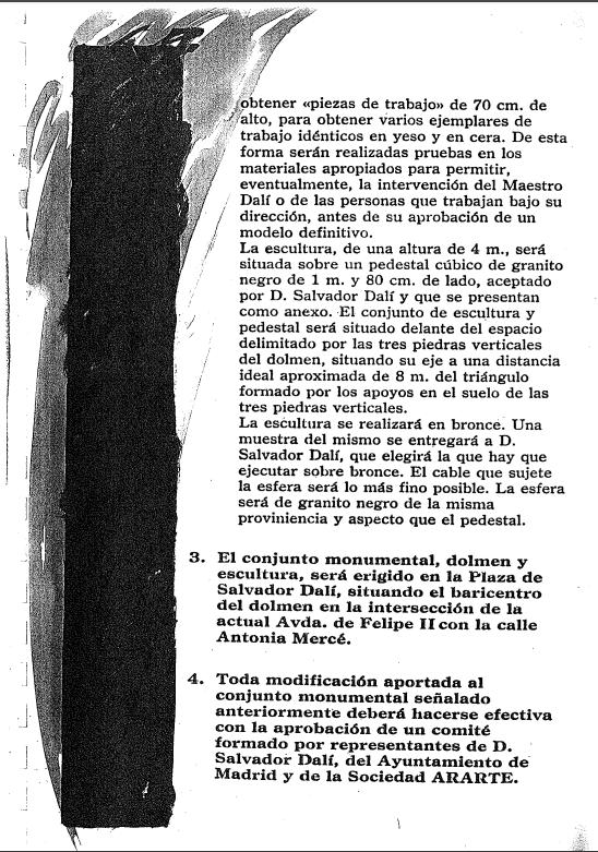 Acuerdo entre Salvador Dali y Enrique Tierno Galvan