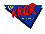 97.3 FM KRQR THE ROCKER logo