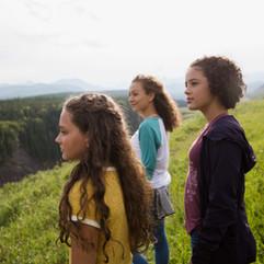 Dívky v přírodě