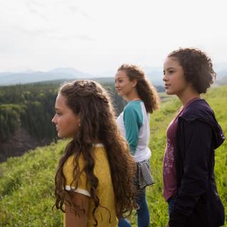 Meninas na natureza