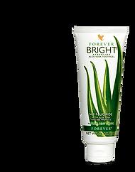 Dentifrice FOREVER BRIGHT TOOTHGELREF. 28 - FOREVER LIVING FRANCE Ce gel dentaire, sans fluor et non abrasif, ravive la blancheur de vos dents. Son complexe à la chlorophylle, sans menthol, procure une sensation de fraîcheur naturelle. Sa formule complète à base de propolis et d'aloès naturel aide à préserver votre l'hygiène buccale.  Contenance : 130 g Prix France Métropole TTC : 11.2 €  Réf. 28 35.5 % de gel d'aloe vera naturel