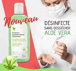 Désinfectant Aloe Vera naturel. Netoyer vos mains sans les dessécherL'Aloe Vera naturel, pur, stabilisé et certifié!