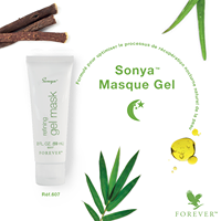 SONYA MASQUE GEL Le Masque Gel a été formulé pour optimiser le processus de récupération nocturne naturel de la peau. Il renferme de puissants actifs végétaux pour rééquilibrer l'hydratation de la peau et booster son éclat naturel. Vite absorbé, il permet une peau sublimée et régénérée le matinL'Aloe Vera naturel, pur, stabilisé et certifié!