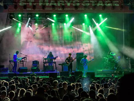 SHAFFER MULTIMEDIA supplies 12'x24' LED screen/IMAG for MIDDLE WAVES                    MUSIC FESTIV