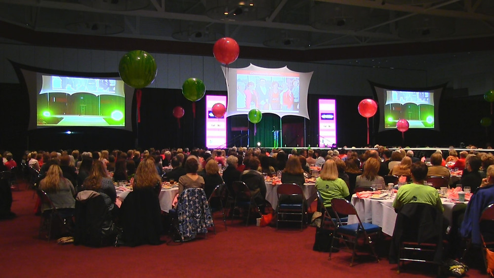 Shaffer Multimedia specialized LED columns to run uniquely created sponsor logos in 2015 and produces the music as well as other assistance beyond AV every year for local breast cancer support Francine's Friends.