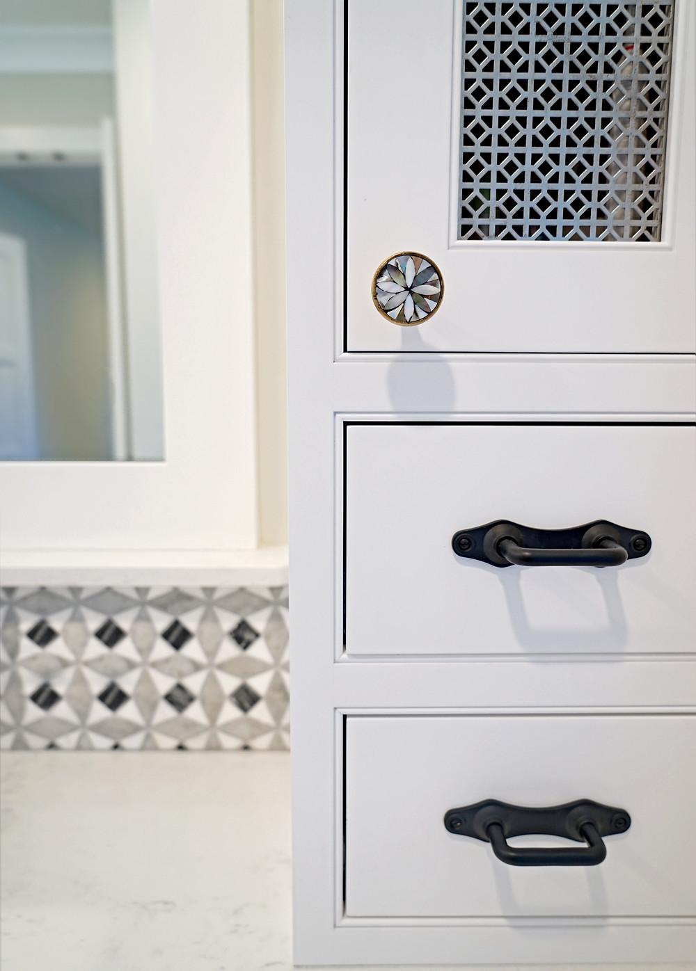 Hardware details:  knobs by Anthropologie & pulls by Rejuvenation