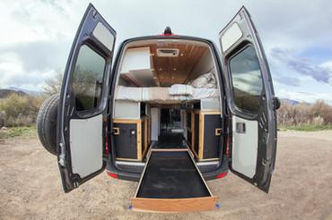 Exterior Rear View with Sliding Bike/Storage Drawer