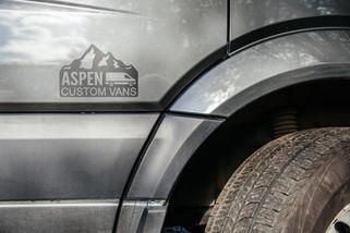 Grey Wolf Aspen Custom Vans Logo