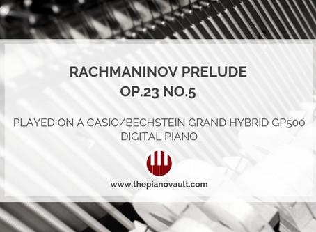 Rachmaninov Prelude Op.23 No.5 on a Casio/Bechstein Grand Hybrid GP500