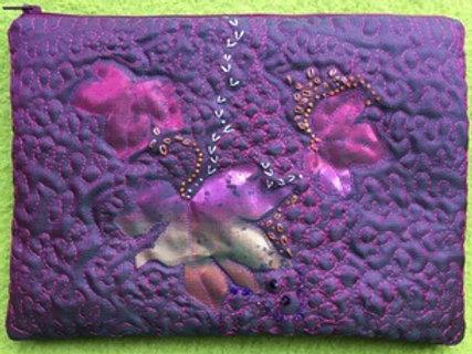 Silk Clutch Bag - Purple