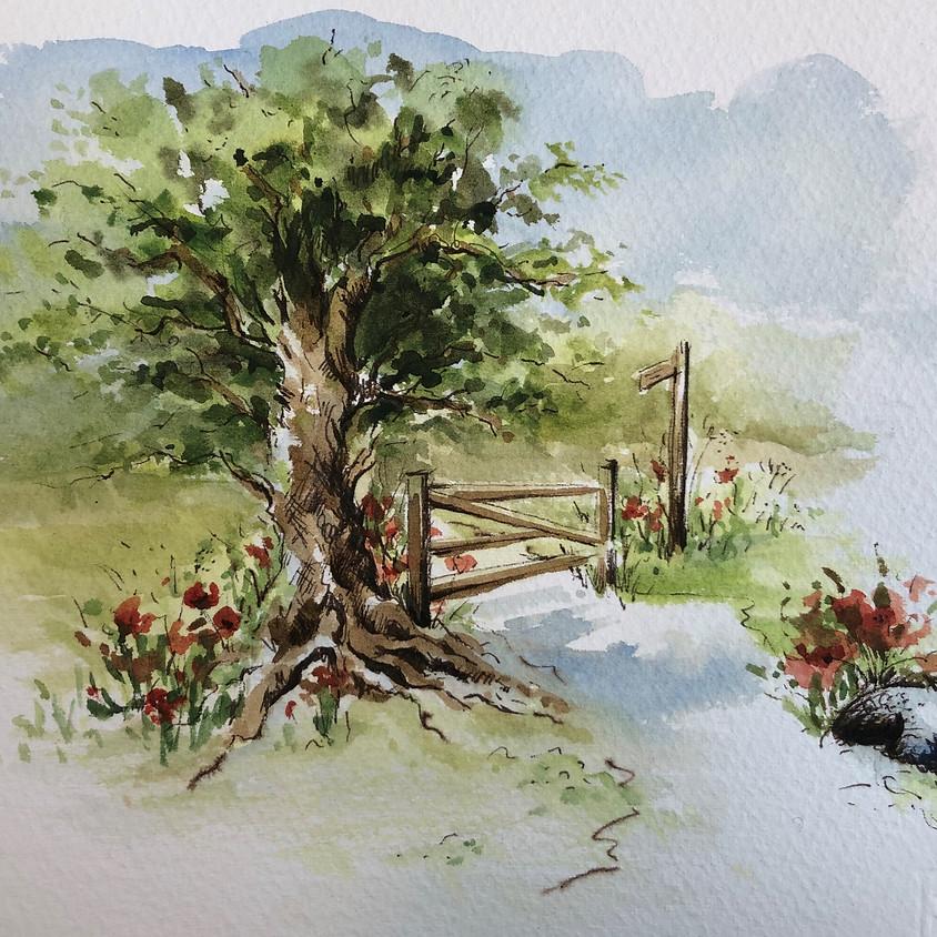 Pen & Wash - Watercolour