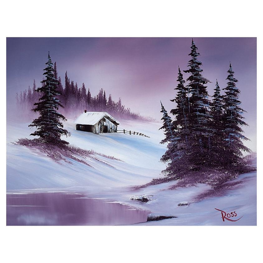 Bob Ross Painting Day - Purple Splendour