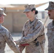 Receiving an award in Afghanistan (2010).