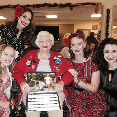 Visiting a veterans home with Pin-Ups for Vets.