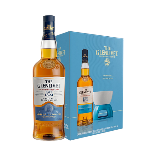Glenlivet Founders Reserve 750ml + Set Fondue