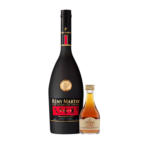 Cognac Remy Martin VSOP 700 ml. + mini Remy Martin 1738 50ml