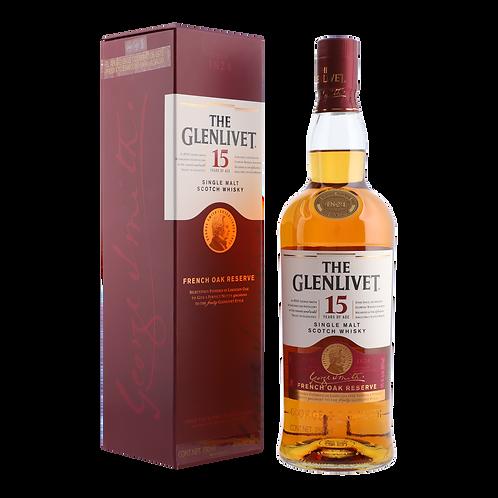 Whisky Glenlivet 15 años 750ml