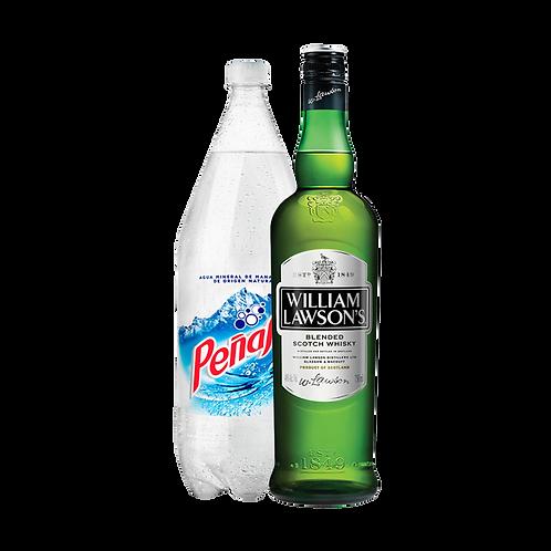 Whisky William Lawsons STD 700 ml + Agua Mineral Peñafiel 2 Lt