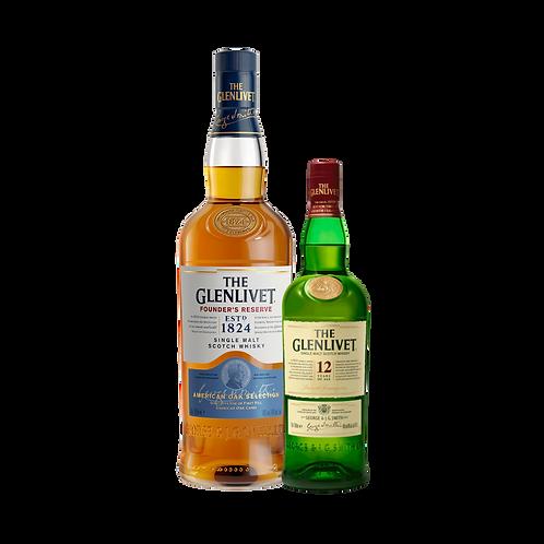 Whisky Glenlivet Founders Reserve 750ml + Glenlivet 12 años 200ml