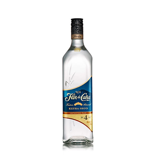 Ron Flor de Caña 4 Años Blanco Extra Seco 750 ml