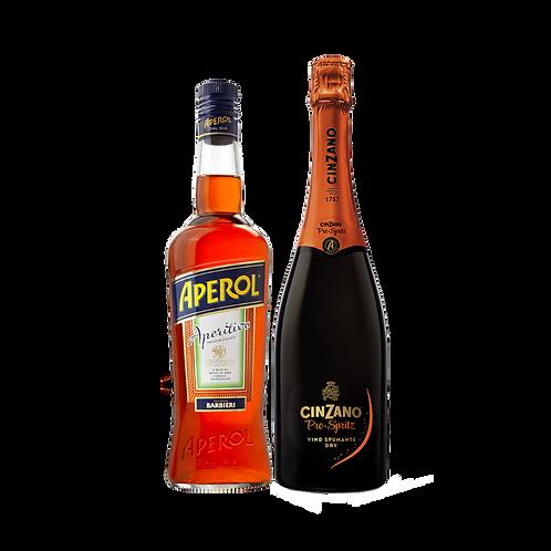 Aperol Spiritz 750ml + Vino Bco Espumoso Cinzano 750ml