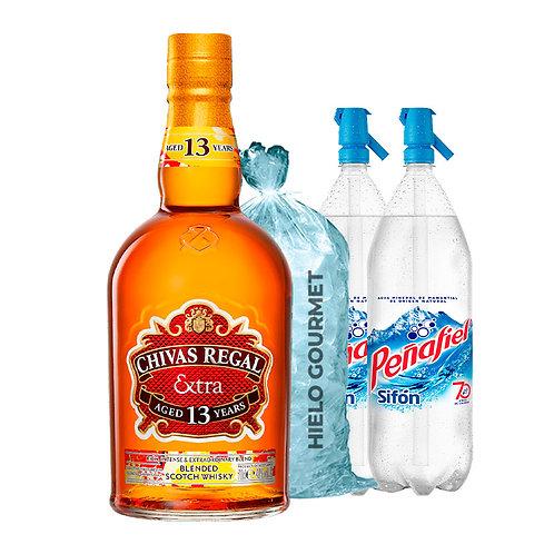 Chivas Regal Extra Sherry 13 Años 750 ml +Hielo Gourmet 5 K + 2 Peñafiel Sifón