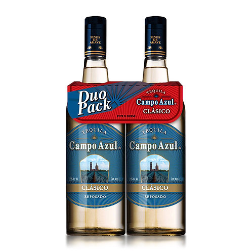 Tequila Campo Azul Reposado Duo Pack 750ml