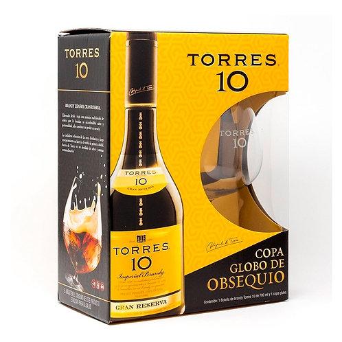 Brandy Torres 10 700ml + Copa De Regalo