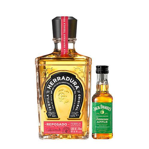 Tequila Herradura Reposado 700 ml + Mini Jack Daniel's Apple 50 ml