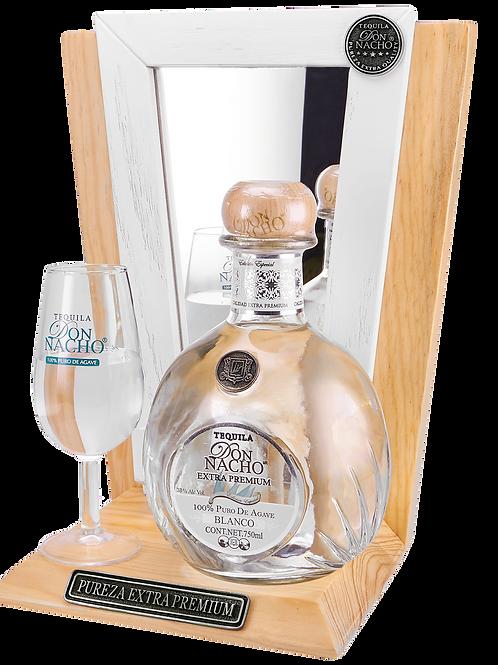 Tequila Don Nacho Extra Premium Blanco 750ml + Cava