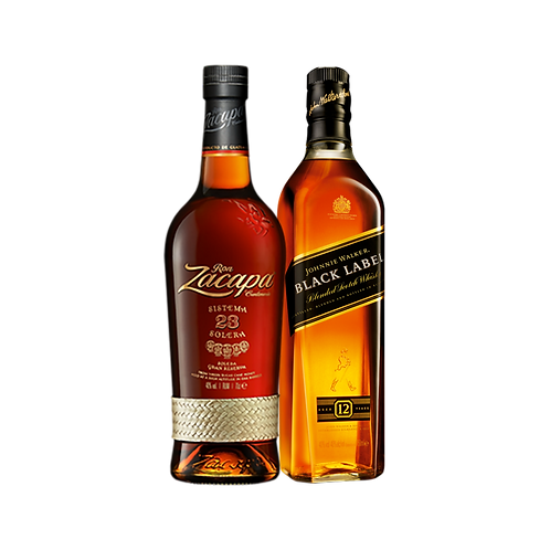 Ron Zacapa Centenario 23Y 750 ml + Johnnie Walker Etiqueta Negra 750 ml