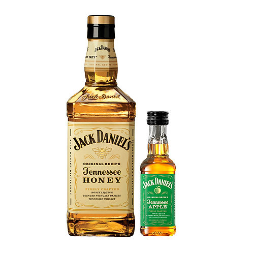 Whisky Jack Daniel's Honey 700 ml + Mini Jack Daniel's Apple 50 ml