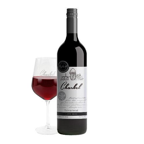 Vino Charbel Trivarietal 750 ml + Copa